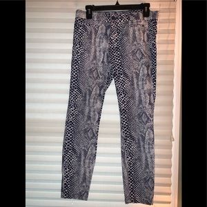 2/$20 Khakis by Gap snake print crop pants